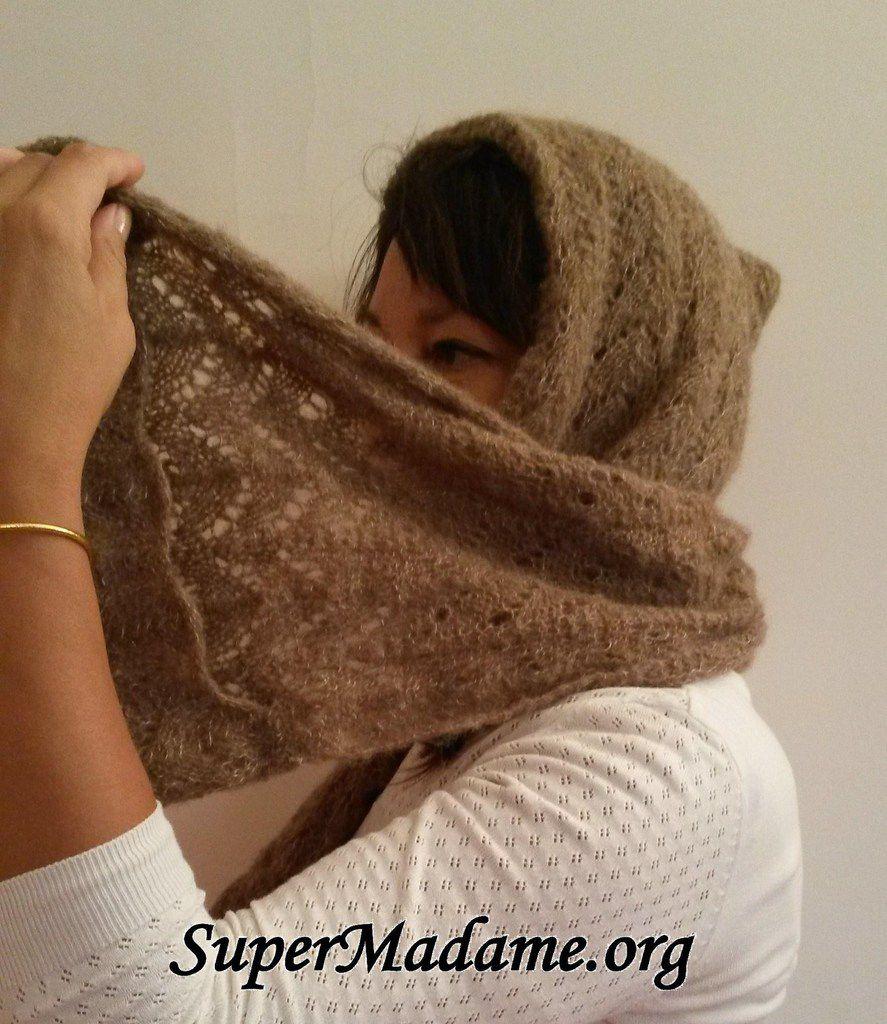 tricot facile une echarpe capuche