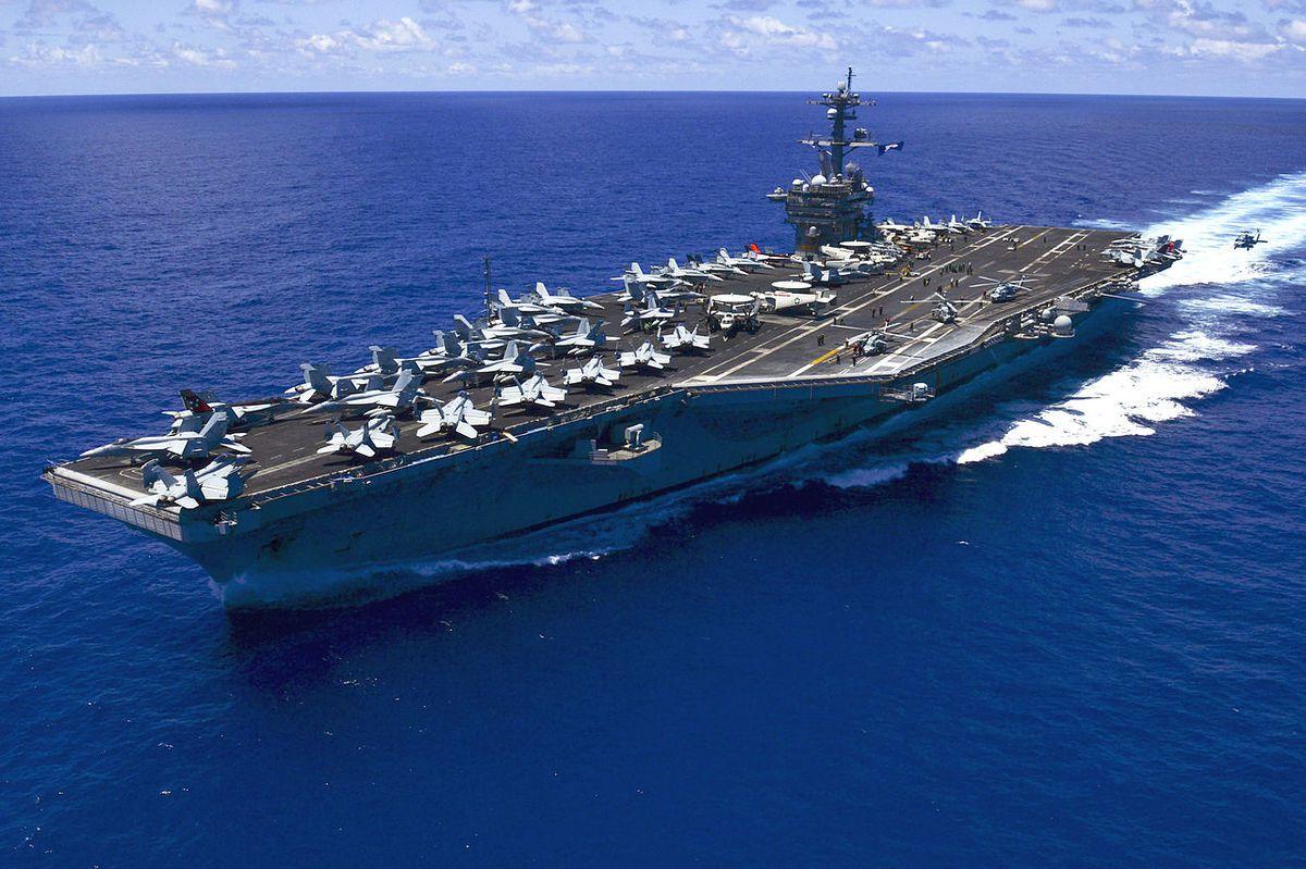 Le porte-avions nucléaire USS Vinson de classe Nimitz est au large de la Corée du Sud