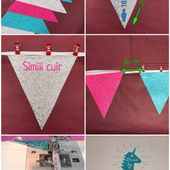 Guirlande Fanions simili cuir DIY - Viny DIY, le blog de tuto couture & DIY.