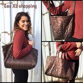 Sac XL shopping - Viny DIY, le blog de tutoriels couture et DIY.