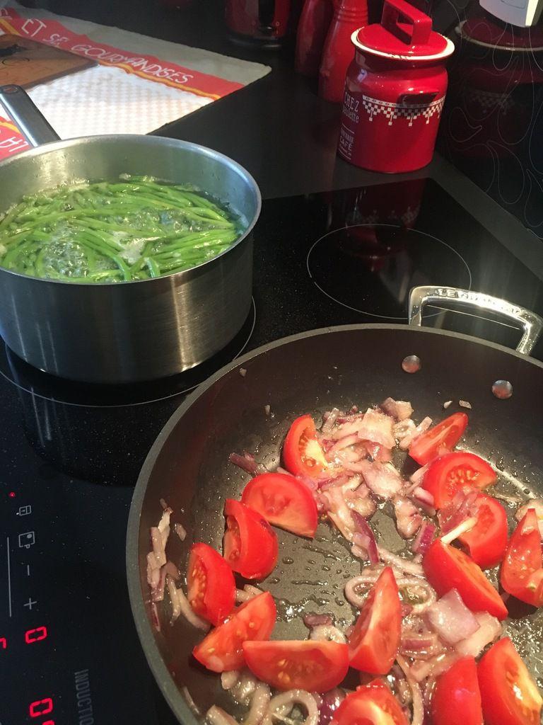 Haricots verts aux tomates