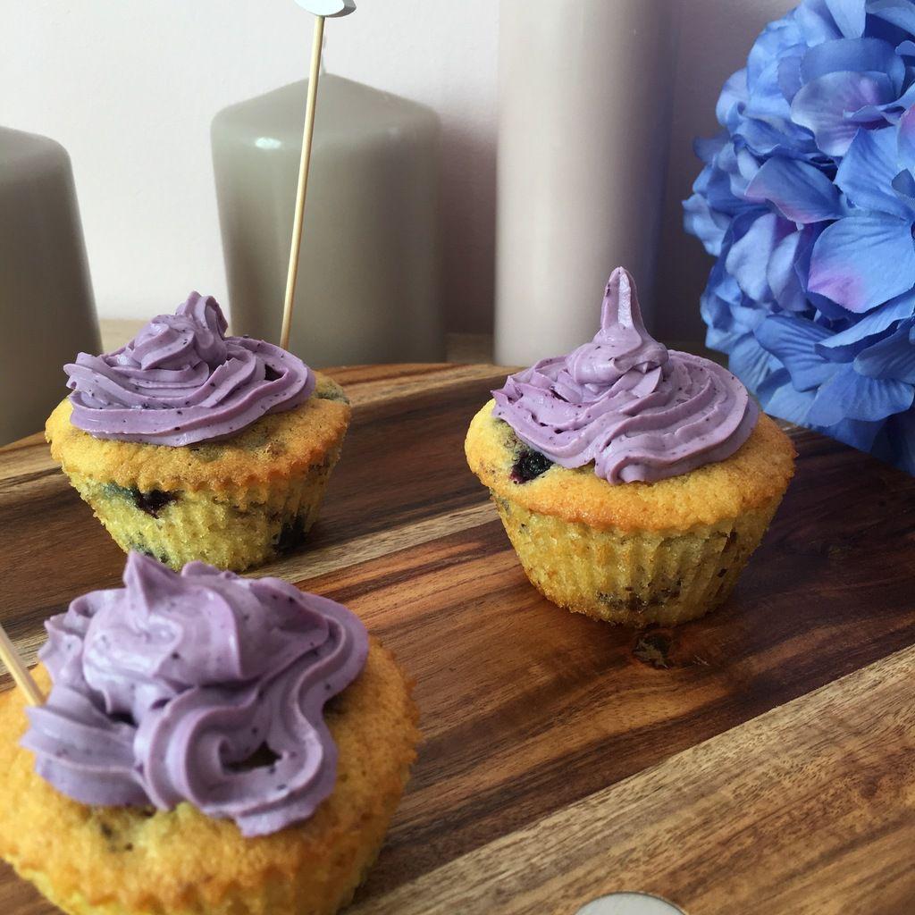 Cupcake Myrtilles et Noix