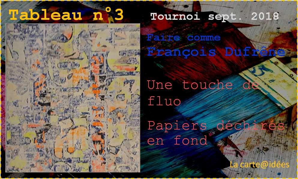 Tournoi : tableau n°3
