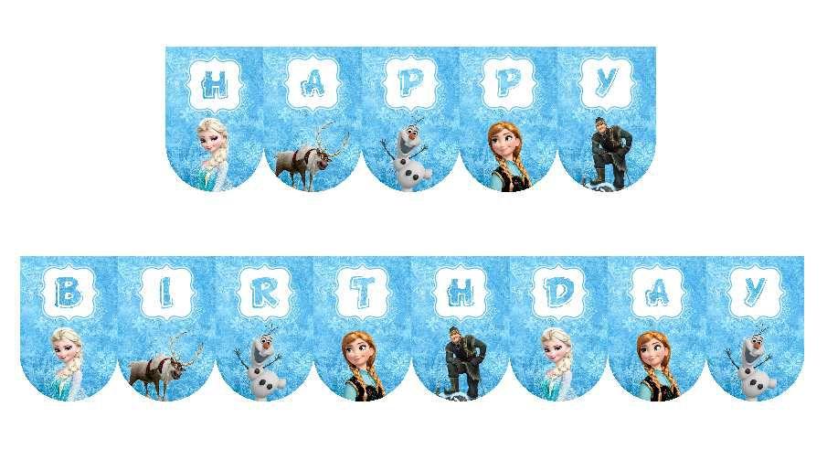 kit anniversaire la reine des neige a