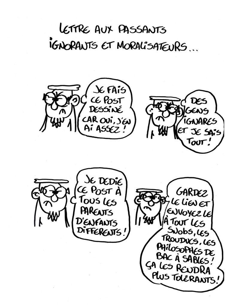 Lettre aux passants ignorants et moralisateurs !