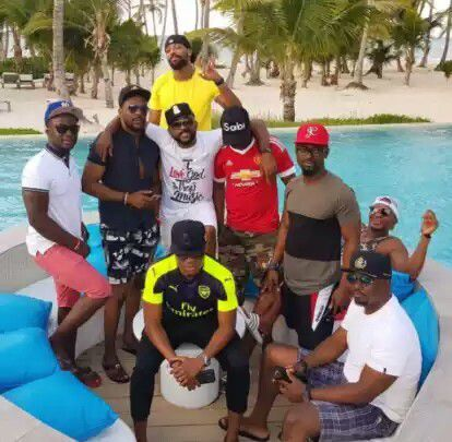 Check out this Photo from Banky W's bachelors'trip with close friends