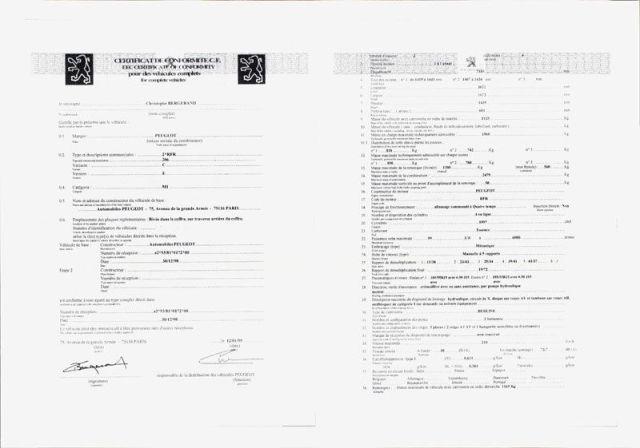 Certificat de conformité Belge valable en France