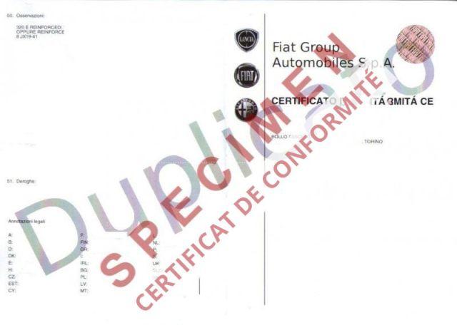 Certificat de Conformité Alfa romeo Gratuit