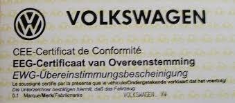 Les formalités pourobtenir un certificat de conformitéVolkswagen importé