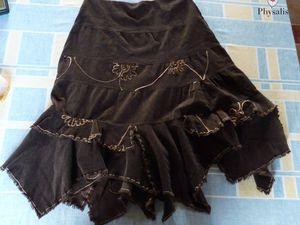 La récup' d'une jupe en velours