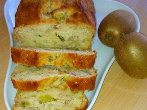 Banana bread kiwi, ou comment recycler des fruits trop mûrs