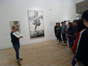 La classe de 2I visite l'exposition Veličković au FHEL