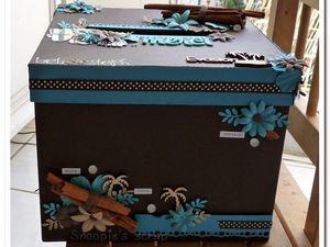 Urne/boîte à rêve Laeti & Steph - Turquoise & chocolat - Exotique