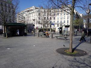 Bd de Belleville, place Jean Ferrat (19/03/20).