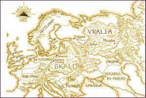 Carte de l'univers de Kushiel