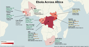 Ebola across Africa in April 2014