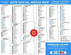 carte interactive des médias sociaux (Overdrive)