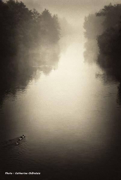L'Orne sous la brume par Catherine