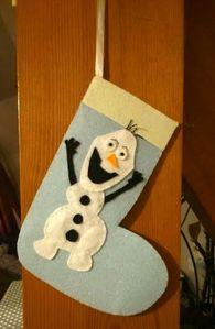 Botte de noel Olaf en feutrine