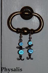 bo fil alu noir perle bleue