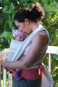 Lucille - 2 mois et demi - en Afrique avec maman
