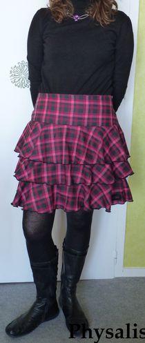 jupe rose et noir