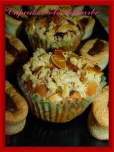 cupcakes rhubarbe