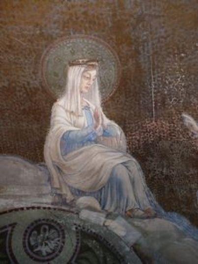 P1110943 Restauration des peintures murales du choeur de l'église de Seuzey