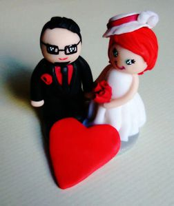Cake Topper Mariage