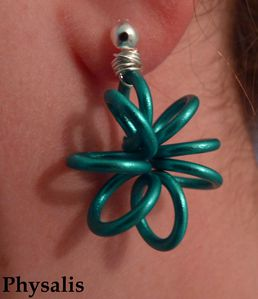 boucle d'oreille bleue