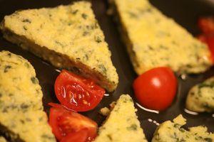 gebratene spinat-polenta - ungebraten