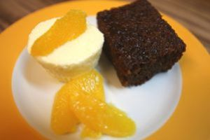 orangenparfait mit hot marmalade pudding