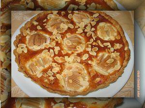 tarte amandine framboises et poires
