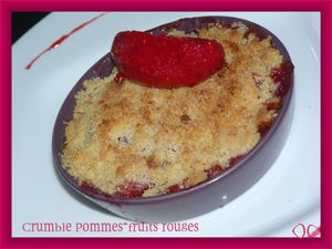 crumble fruits rouges pommes