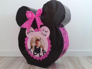 Urne Cagnotte Baptme Fille Minnie Le Blog De Sandrinecrea