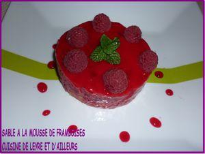 SABLE A LA MOUSSE DE FRAMBOISES
