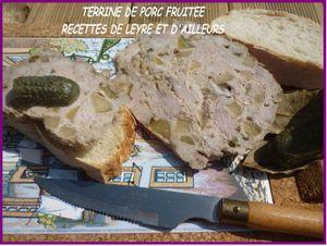 TERRINE DE PORC