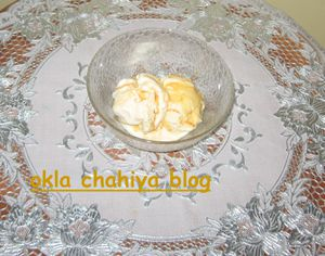 crème glacée à la vanille