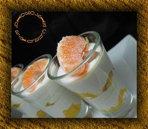 verrines clémentines & crème de marrons
