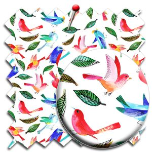 tissu echantillon motif oiseau aquarelle