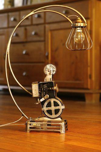 Cration Lampe Rcup Recyclage Ancien Projecteur Path