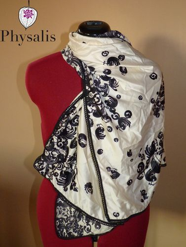 foulard NB bordure noire