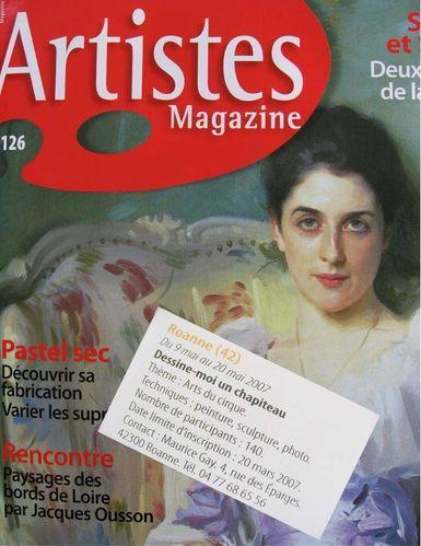 Artistes Magazine n°126 mars-avril2007