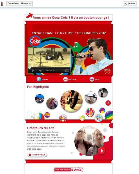 landing page coca cola