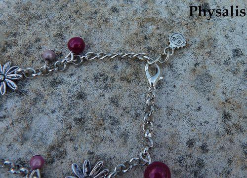 bracelet fleur et perle détail 1