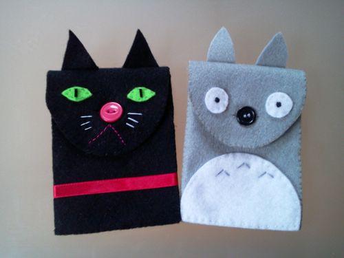Pochettes Chat et Totoro