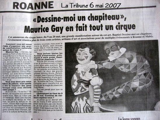 Tribune Dimanche 6 mai 2007