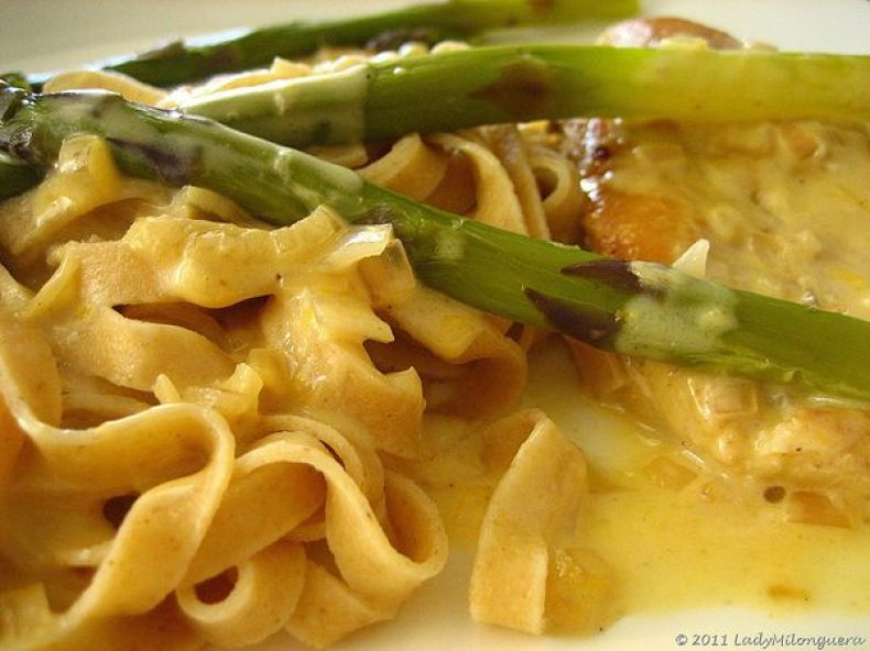 escalopes poulet asperges orange