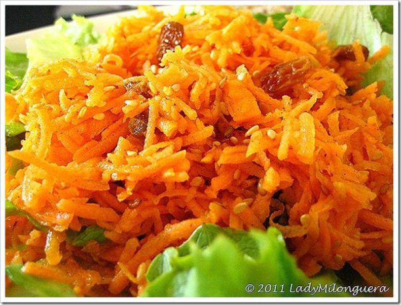 salade carottes rapées raisins secs cannelle fleur d'oranger
