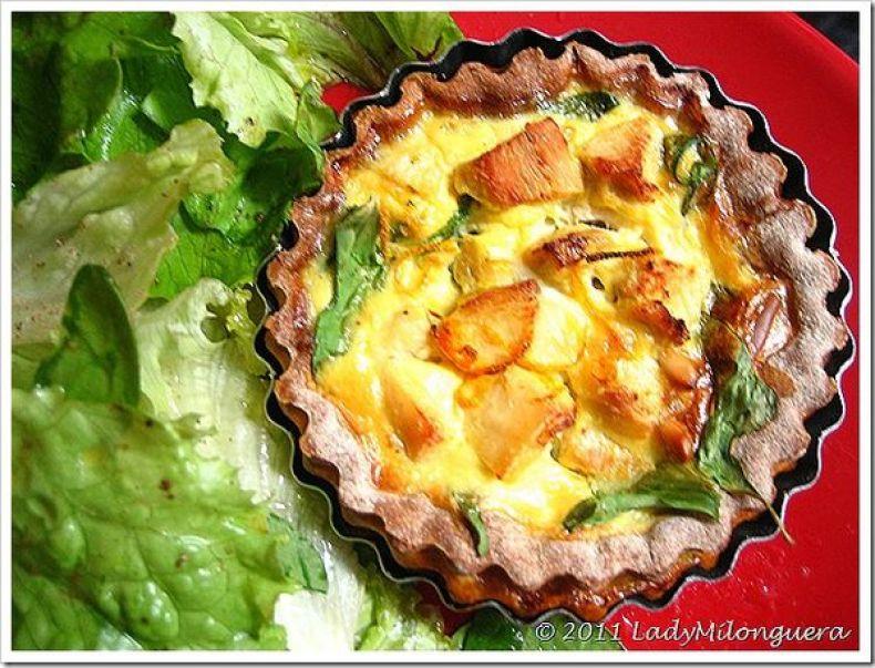 Tartelettes-poulet-pousses-epinard